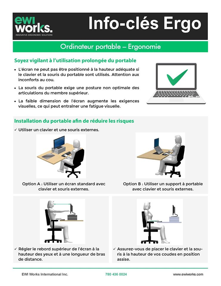 Outil Info-clés Ergo pour le Télétravail