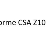 Norme CSA Z1004
