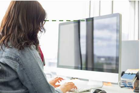 Conseils en ergonomie pour l'écran d'ordinateur en télétravail